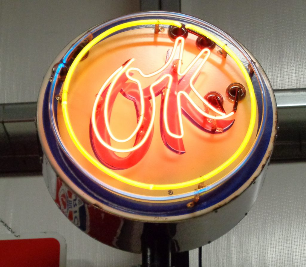 Chevrolet 'OK' Used Cars Sign - Bill Fitts Sports Cars